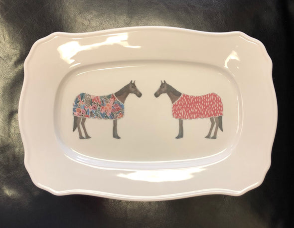 Horse of Windsor Scroll Platter