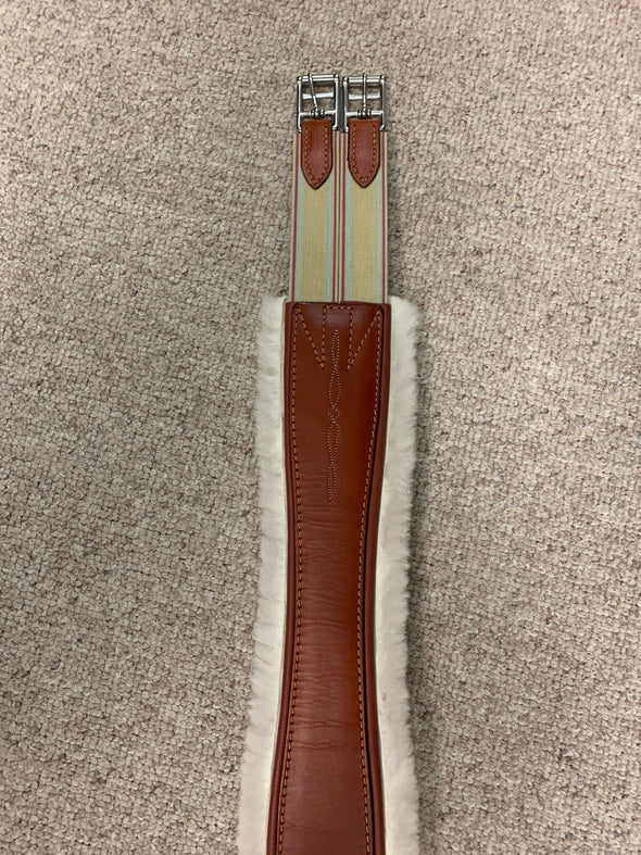 Edgewood Fancy Double Elastic Sheepskin Girth