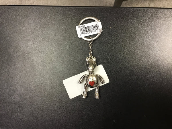 Kentucky Horse with Heart Keychain