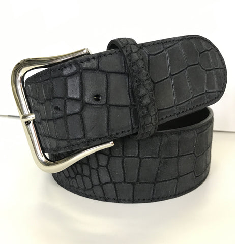 Tailored Sportsman Suede Croc Belt - The Tack Shop of Lexington