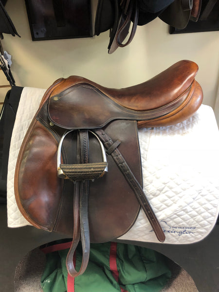 "17"" County Stabilizer Jumping Saddle Used"