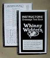 Whinny Widgets Instructors' Dressage Test Book