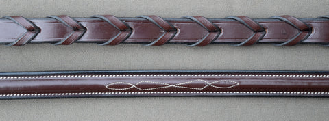 Black Oak Fancy Stitched Laced Reins