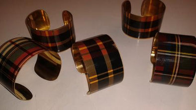 Two's Company Plaid Cuff Bracelet - The Tack Shop of Lexington