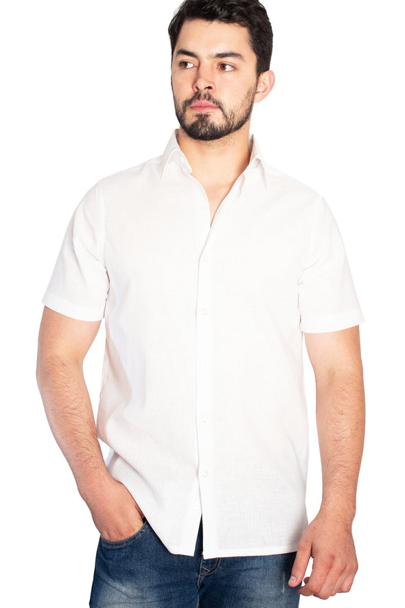 Camisa Lino Blanco Classic Fit
