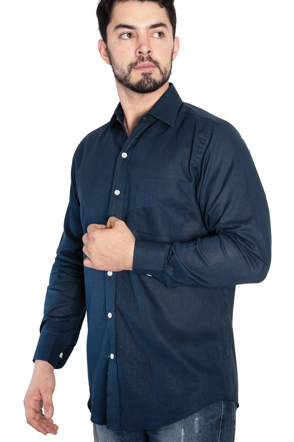 Camisa Lino Marino ML Classic Fit