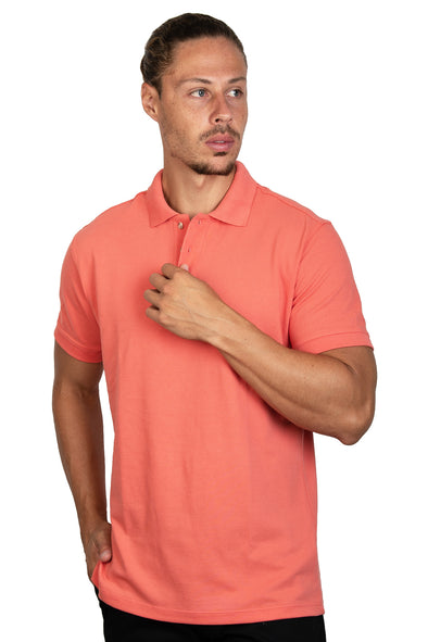 Playera Polo Coral