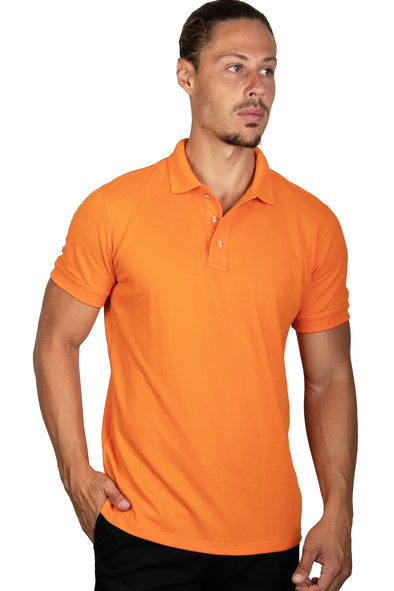 Playera Polo Naranja