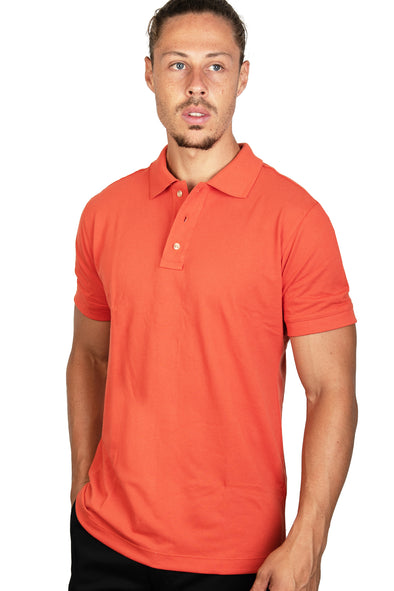 Playera Polo Terracota