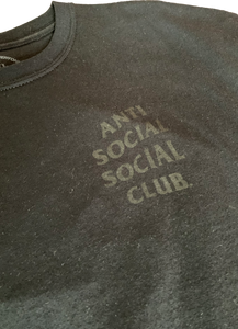 Anti Social Social Club Dramatic Black Floral T-Shirt