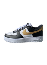 Load image into Gallery viewer, Air Force 1 Low Black and Gold