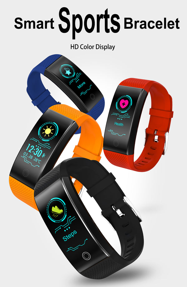 Fitness Tracker w/ HR & BP Monitor
