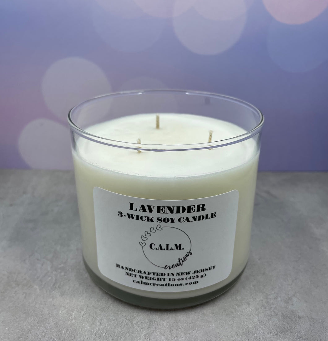 LAVENDER 3-Wick Soy Candle