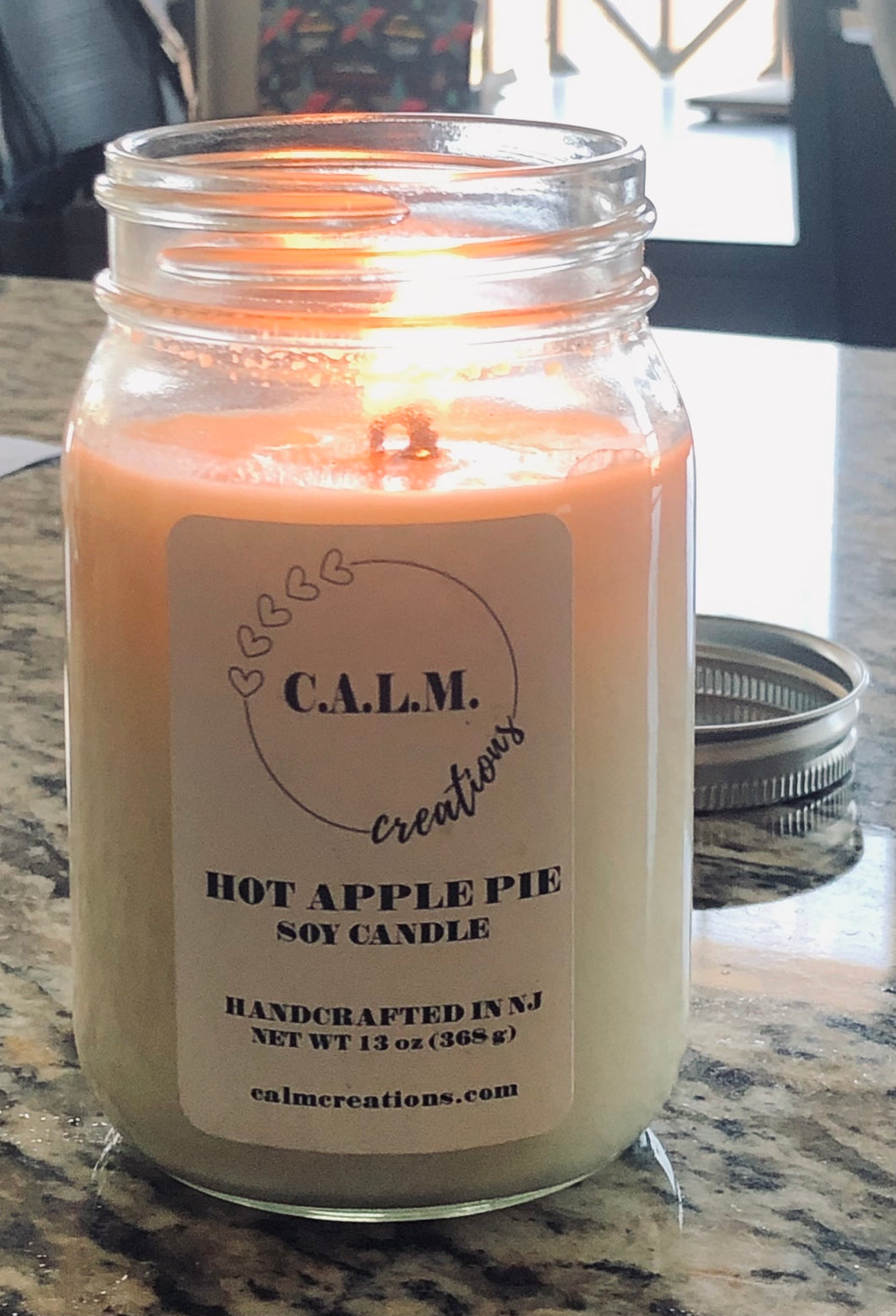 HOT APPLE PIE Large Jar Soy Candle