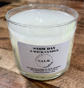 SNOW DAY 3-Wick Candle