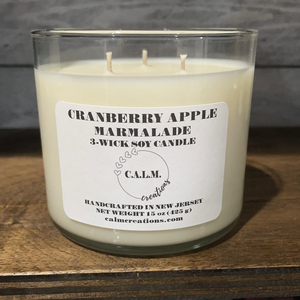 CRANBERRY APPLE MARMALADE 3-Wick Soy Candle