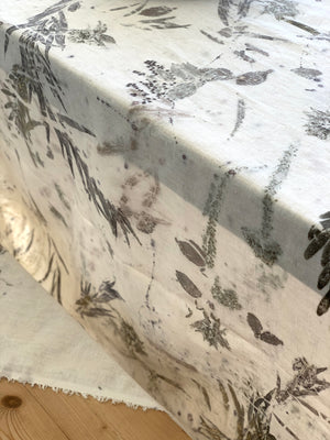 Hemp linen table cloth - Print 3/19Jul20