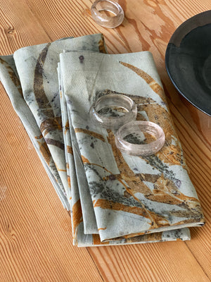 Hemp linen table napkins - Print 2/12Jun20