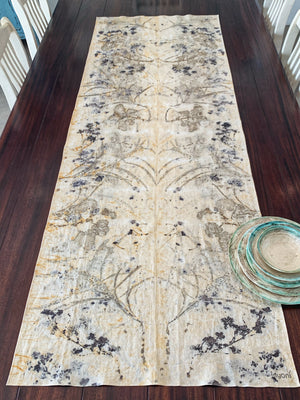 Hemp linen table runner - Print 4/12Jul19