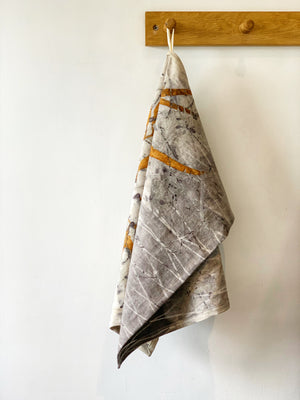 Load image into Gallery viewer, Hemp linen tea towel - Print 7/1Jun20