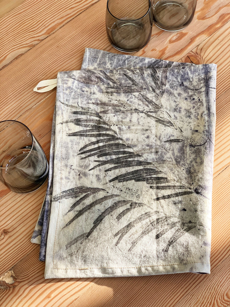 Load image into Gallery viewer, Hemp linen tea towel - Print 1/31May20