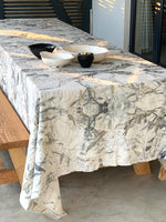 Flax linen table cloth - Print 1/28Mar20