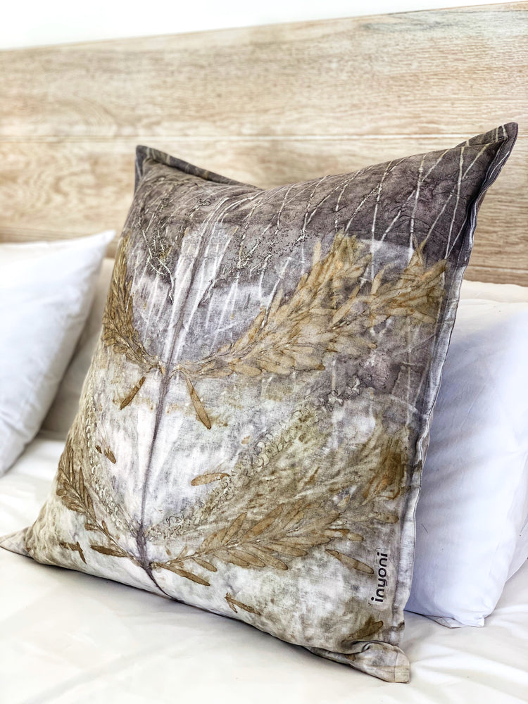 Hemp linen scatter cushion - Print 2/20Jan20