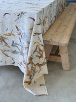 Flax linen table cloth - Print 3/17Nov20