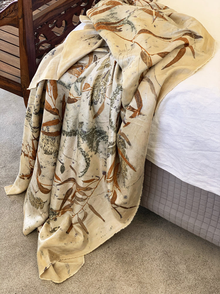 Hemp silk bed throw - Print 1/5Jan21
