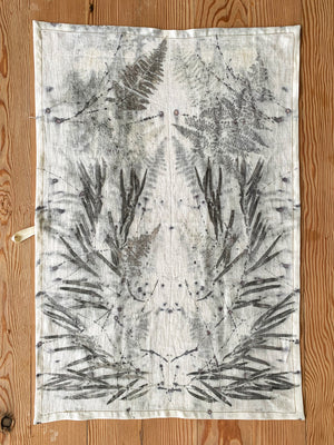 Flax linen tea towel - Print 5/16Jun20