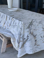Flax linen table cloth - Print 2/17Nov20