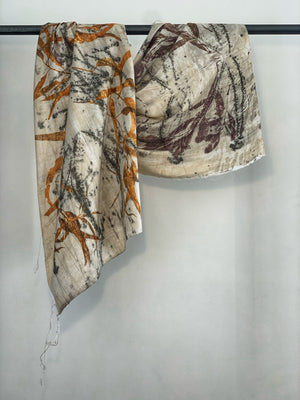 Load image into Gallery viewer, Dupioni silk scarf - Print 2/10Mar20