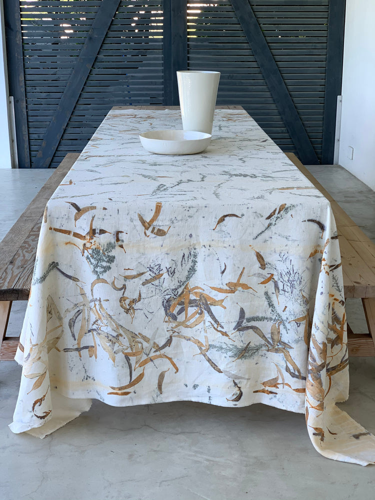 Load image into Gallery viewer, Flax linen table cloth - Print 3/17Nov20