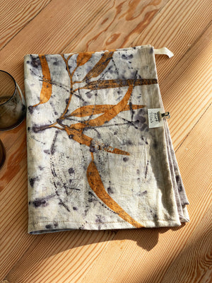 Hemp linen tea towel - Print 7/1Jun20