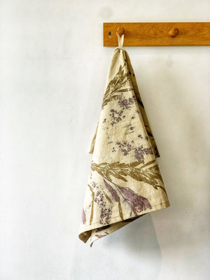 Hemp linen tea towel - Print 6/10Mar20