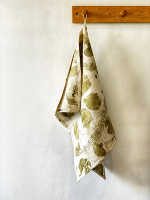 Load image into Gallery viewer, Flax linen tea towel - Print 4/16Jun20