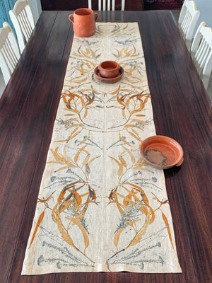 Load image into Gallery viewer, Flax linen table runner - Print 3/27Mar20