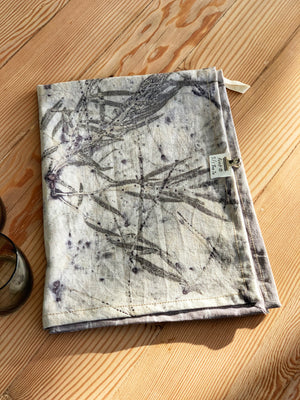 Load image into Gallery viewer, Hemp linen tea towel - Print 5/1Jun20