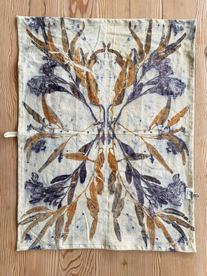 Load image into Gallery viewer, Hemp linen tea towel - Print 5/30May20