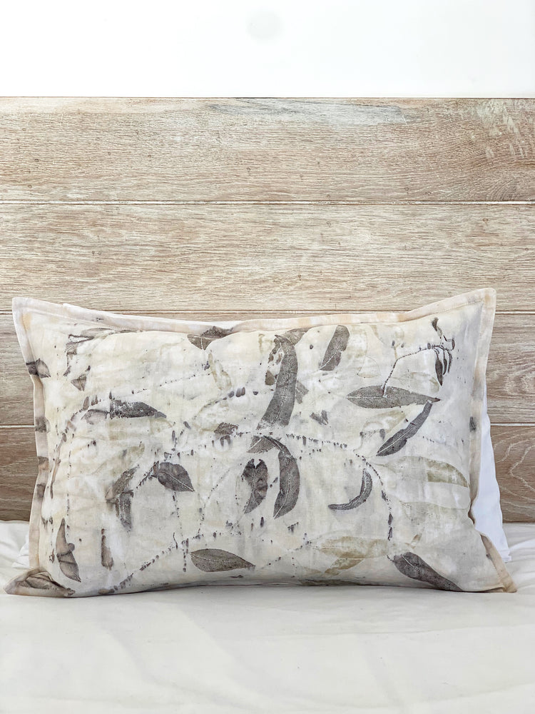 Hemp linen scatter cushion - Print 4/18Jan20