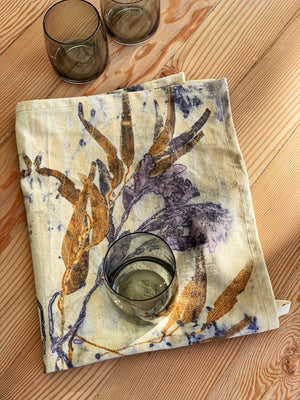 Hemp linen tea towel - Print 5/30May20