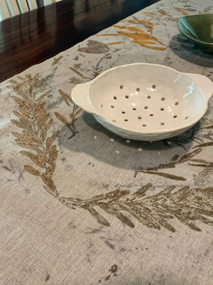 Hemp linen table runner - Print 5/8Mar20