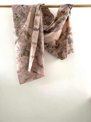 Hemp linen scarf - Print 1/21Jun19