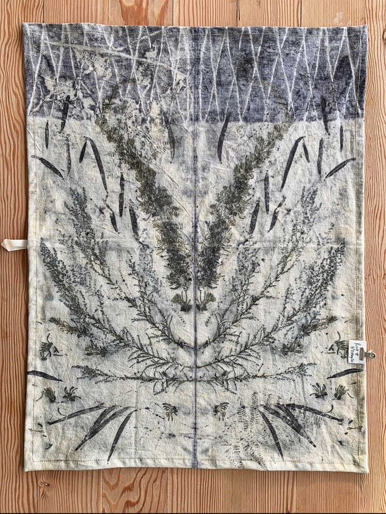 Hemp linen tea towel - Print 3/31May20