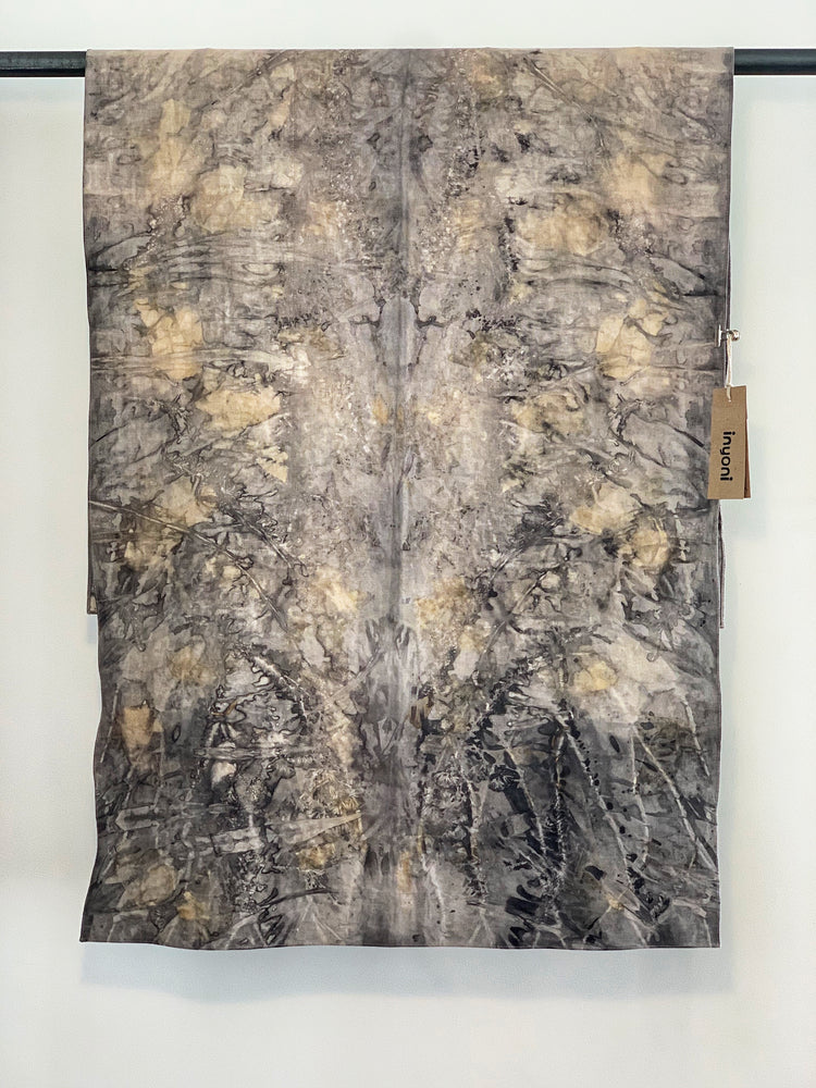 Hemp linen scarf - Print 1/15Jun19