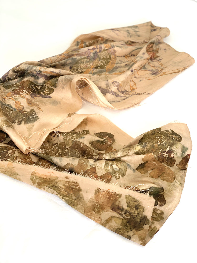 Load image into Gallery viewer, Dupioni silk scarf - Print 1/29Jan20