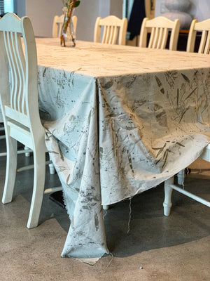 Load image into Gallery viewer, Hemp linen table cloth - Print 1/23Aug20
