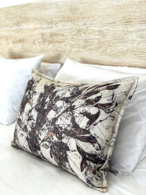 Hemp linen scatter cushion - Print 2/18Jan20