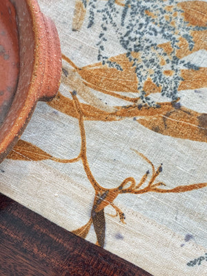 Flax linen table runner - Print 3/27Mar20