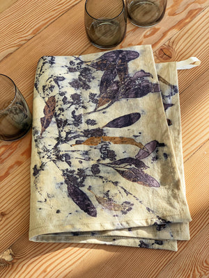 Hemp linen tea towel - Print 8/30May20